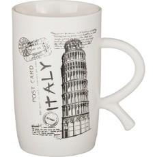 КРУЖКА (Фарфор) «ITALY» 600 МЛ. 14*8 СМ. ВЫСОТА=14 СМ.