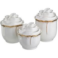 Набор банок для сыпучих (Фарфор) «ЦВЕТОЧНАЯ СИМФОНИЯ»